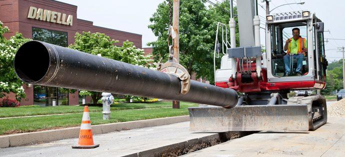 water utility installation