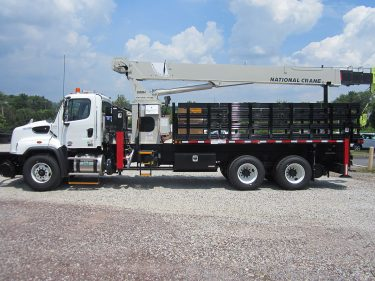 Telescopic Crane Truck Driver Side Hi Rail